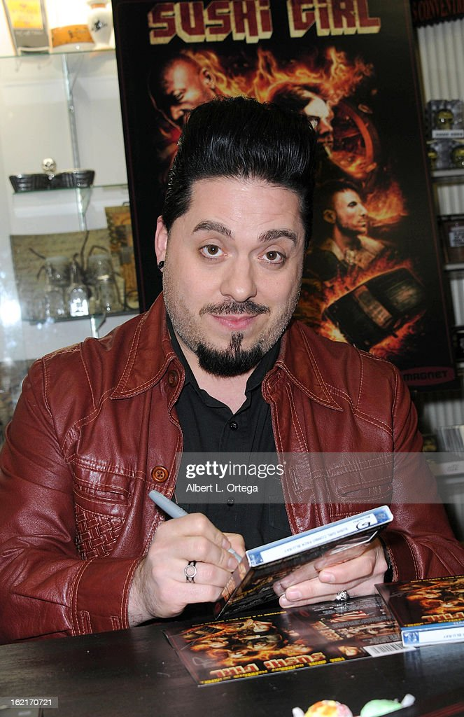 Actor/producer Destin Pfaff participates in the Blu-ray And DVD Release Party For Magnolia Home Entertainment's 'Sushi Girl' held at Dark Delicacies Bookstore on February 19, 2013 in Burbank, California.