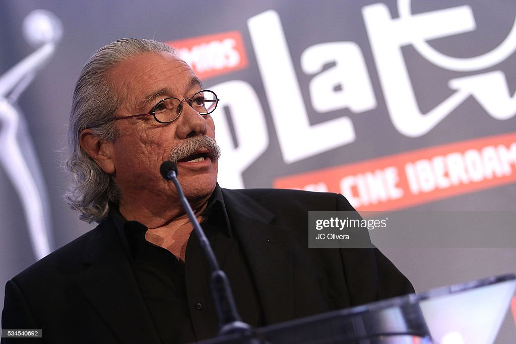 Actor/producer <a gi-track='captionPersonalityLinkClicked' href=/galleries/search?phrase=Edward+James+Olmos&family=editorial&specificpeople=213817 ng-click='$event.stopPropagation()'>Edward James Olmos</a> attends the nomination announcement for The 3rd Annual Premios Platino of Iberoamerican Cinema at The London on May 26, 2016 in West Hollywood, California.