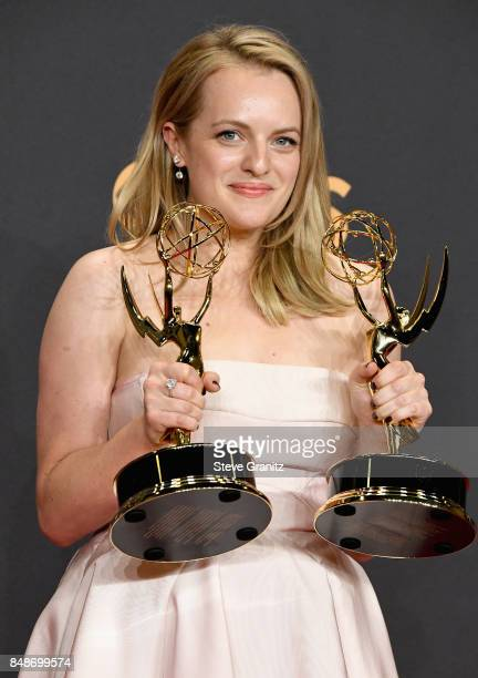 Actor/producer Elisabeth Moss winner of the awards for Outstanding Drama Series and Outstanding Lead Actress in a Drama Series for 'The Handmaid's...