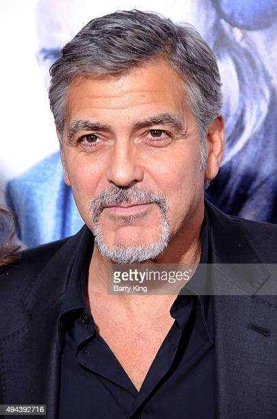 Actor/producer George Clooney arrives at the premiere of Warner Bros Pictures' 'Our Brand Is Crisis' at TCL Chinese Theatre on October 26 2015 in...