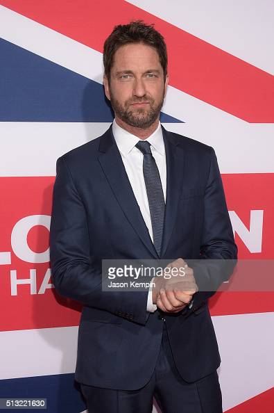 Actor/producer Gerard Butler attends the premiere of Focus Features' 'London Has Fallen' at ArcLight Cinemas Cinerama Dome on March 1 2016 in...