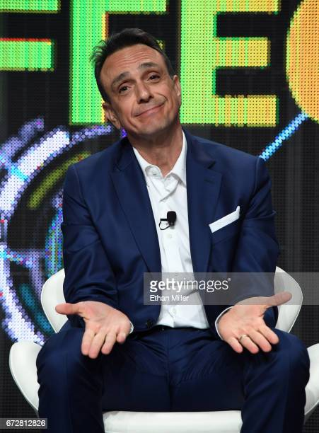 Actor/producer Hank Azaria speaks during IFC's 'Brockmire' panel during the 2017 NAB Show at the Las Vegas Convention Center on April 24 2017 in Las...