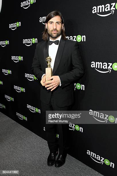 Actor/producer Jason Schwartzman winner of Best Series Musical or Comedy for 'Mozart in the Jungle' attends Amazon's Golden Globe Awards Celebration...