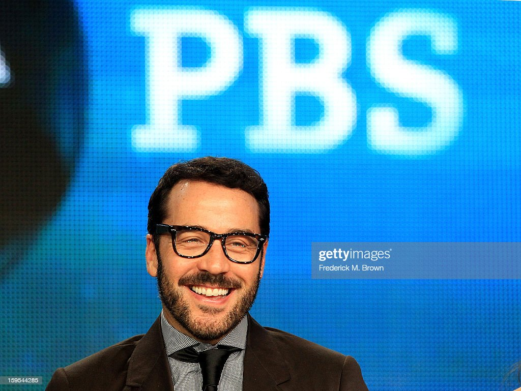 Actor/producer <a gi-track='captionPersonalityLinkClicked' href=/galleries/search?phrase=Jeremy+Piven&family=editorial&specificpeople=206338 ng-click='$event.stopPropagation()'>Jeremy Piven</a> of the television show 'Mr. Selfridge' speaks onstage during the PBS Portion- Day 2 of the 2013 Winter Television Critics Association Press Tour at Langham Hotel on January 15, 2013 in Pasadena, California.
