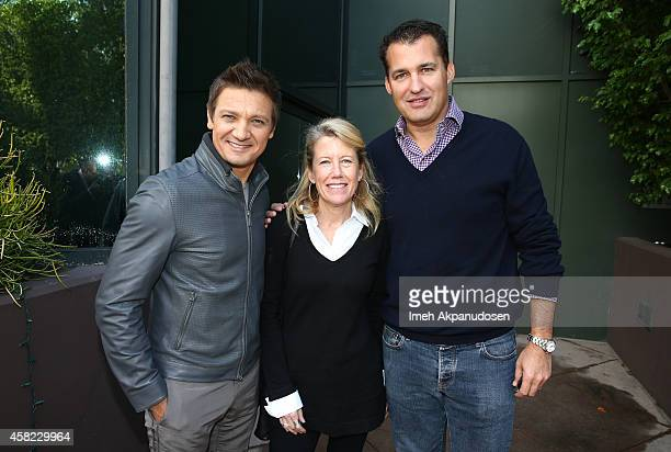 Actor/Producer Jeremy Renner and producers Lisa Bruce and Scott Stuber attend Deadline's The Contenders at DGA Theater on November 1 2014 in Los...