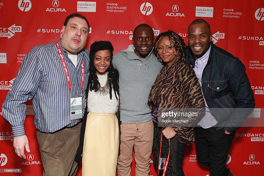 Actor/producer Jim Wareck, actress Trae Harris, producer <a gi-track='captionPersonalityLinkClicked' href=/galleries/search?phrase=Gbenga+Akinnagbe&family=editorial&specificpeople=2293588 ng-click='$event.stopPropagation()'>Gbenga Akinnagbe</a>, actress <a gi-track='captionPersonalityLinkClicked' href=/galleries/search?phrase=Tonya+Pinkins&family=editorial&specificpeople=220801 ng-click='$event.stopPropagation()'>Tonya Pinkins</a> and actor <a gi-track='captionPersonalityLinkClicked' href=/galleries/search?phrase=Colman+Domingo&family=editorial&specificpeople=4946383 ng-click='$event.stopPropagation()'>Colman Domingo</a> attend the 'Newlyweeds' Premiere at Prospector Square on January 18, 2013 in Park City, Utah.