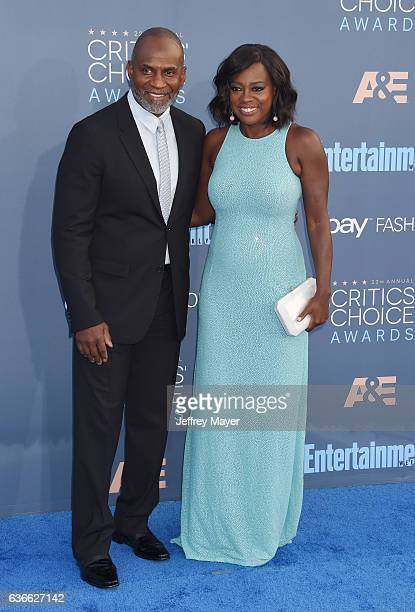 Actorproducer Julius Tennon and actress Viola Davis arrive at The 22nd Annual Critics' Choice Awards at Barker Hangar on December 11 2016 in Santa...