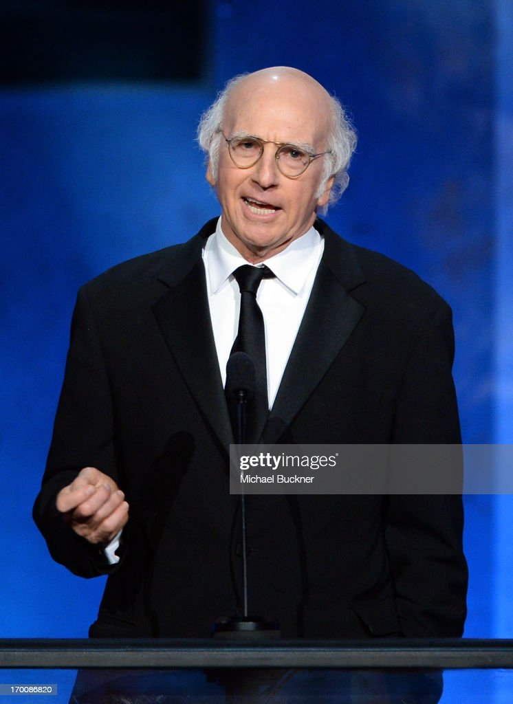 Actor/producer <a gi-track='captionPersonalityLinkClicked' href=/galleries/search?phrase=Larry+David&family=editorial&specificpeople=125184 ng-click='$event.stopPropagation()'>Larry David</a> speaks onstage during AFI's 41st Life Achievement Award Tribute to Mel Brooks at Dolby Theatre on June 6, 2013 in Hollywood, California. 23647_002_MB_2312.JPG