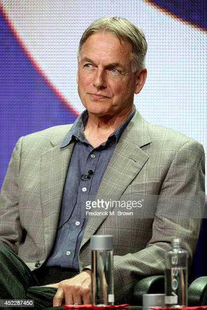 Actor/producer Mark Harmon speaks onstage at the 'NCIS New Orleans' panel during the CBS Network portion of the 2014 Summer Television Critics...