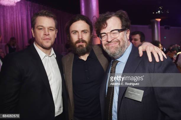 Actor/producer Matt Damon actor Casey Affleck and filmmaker Kenneth Lonergan attend the 89th Annual Academy Awards Nominee Luncheon at The Beverly...