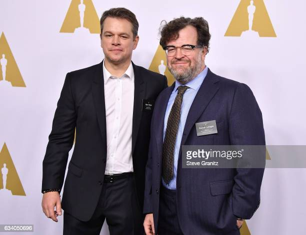 Actor/Producer Matt Damon and Filmmaker Kenneth Lonergan attends the 89th Annual Academy Awards Nominee Luncheon at The Beverly Hilton Hotel on...