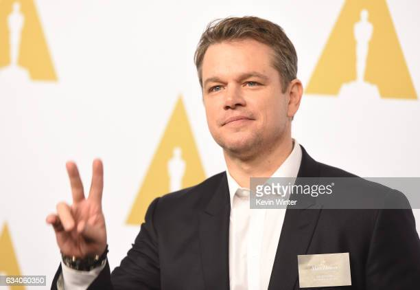 Actor/producer Matt Damon attends the 89th Annual Academy Awards Nominee Luncheon at The Beverly Hilton Hotel on February 6 2017 in Beverly Hills...