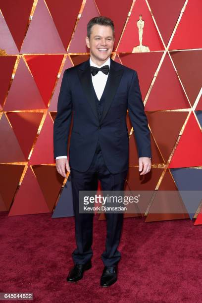 Actor/producer Matt Damon attends the 89th Annual Academy Awards at Hollywood Highland Center on February 26 2017 in Hollywood California