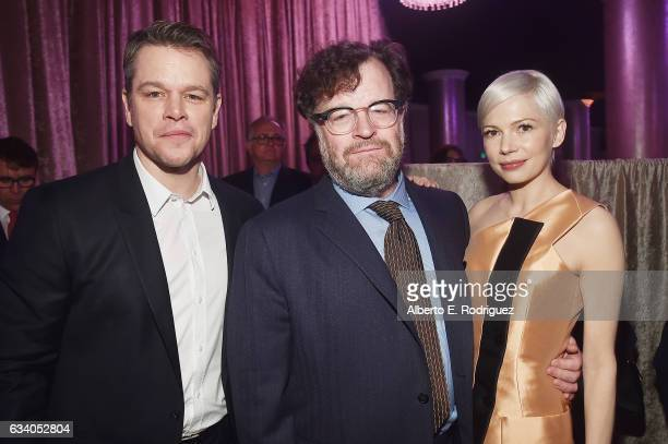 Actor/producer Matt Damon filmmaker Kenneth Lonergan and actress Michelle Williams attend the 89th Annual Academy Awards Nominee Luncheon at The...
