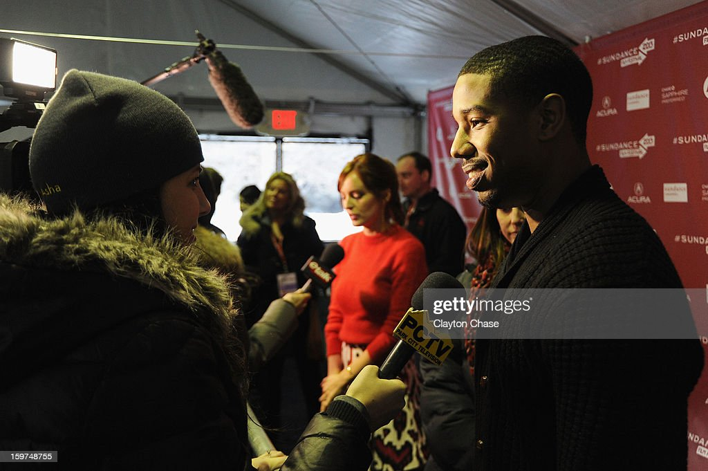 Actor/Producer Michael B. Jordan speaks at the 'Fruitvale' premiere at The Marc Theatre during the 2013 Sundance Film Festival on January 19, 2013 in Park City, Utah.