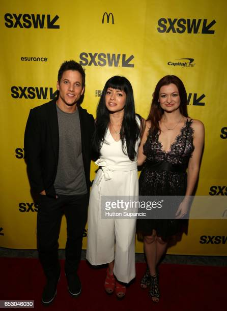 Actor/producer Mike C Manning director Natalia Leite and actor Leah McKendric attend the premiere of 'MFA' during 2017 SXSW Conference and Festivals...