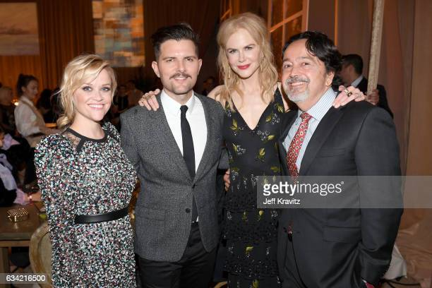 Actor/producer Reese Witherspoon actor Adam Scott actor/producer Nicole Kidman and president of HBO Films Len Amato attend the after party of HBO's...