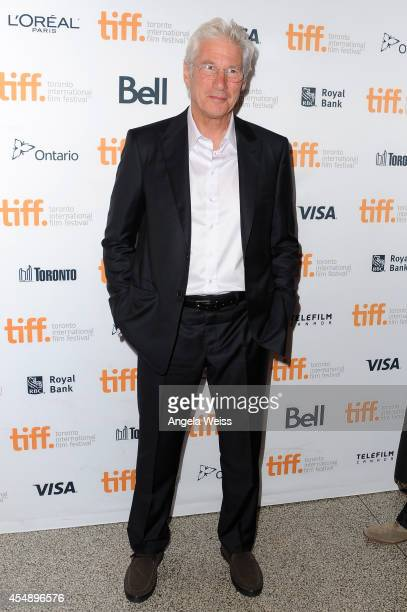 Actor/producer Richard Gere attends the 'Time Out Of Mind' premiere during the 2014 Toronto International Film Festival at Winter Garden Theatre on...