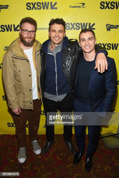 Actor/producer Seth Rogen actor/director James Franco and actor Dave Franco attend 'The Disaster Artist' premiere 2017 SXSW Conference and Festivals...