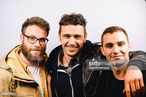 Actor/producer Seth Rogen actor/director James Franco and actor Dave Franco pose for a portrait during the 'The Disaster Artist' Premiere 2017 SXSW...