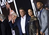Actor/producer Sylvester Stallone and actors Tessa Thompson and Michael B Jordan attend the Los Angeles World Premiere of New Line Cinema's and...