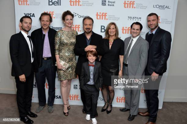 Actor/producer Tobey Maguire actors Peter Sarsgaard Robin Weigert Director Edward Zwick actor Aiden Lovekamp producer Gail Katz and actors Michael...