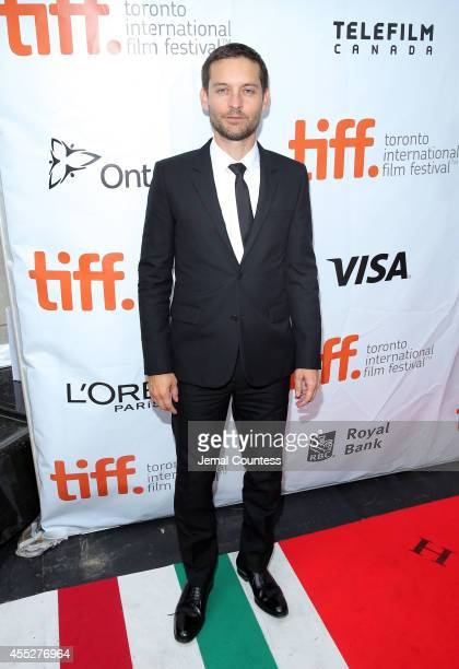 Actor/producer Tobey Maguire attends the 'Pawn Sacrifice' premiere during the 2014 Toronto International Film Festival at Roy Thomson Hall on...