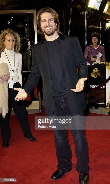Actor/producer Tom Cruise attends the world premiere of Paramount Pictures' 'Narc' at the Academy of Motion Picture Arts Sciences Samuel Goldwyn...