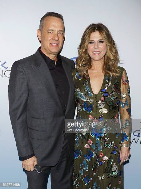 Actor/producer Tom Hanks and actress Rita Wilson attend the 'My Big Fat Greek Wedding 2' New York premiere at AMC Loews Lincoln Square 13 theater on...