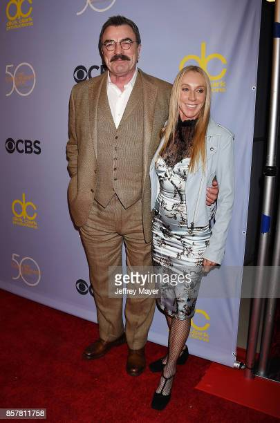 Actorproducer Tom Selleck and wifeactress Jillie Mack attend the CBS' 'The Carol Burnett Show 50th Anniversary Special' at CBS Televison City on...