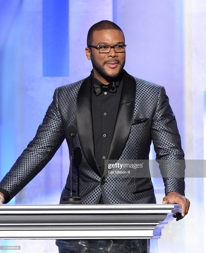 Actor/producer Tyler Perry speak onstage during the 45th NAACP Image Awards at Pasadena Civic Auditorium on February 22 2014 in Pasadena California