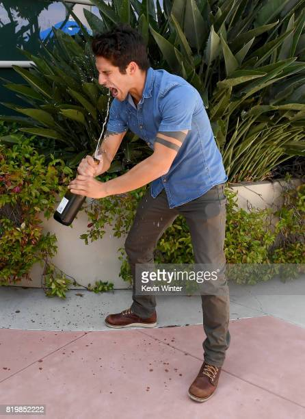 Actor/producer Tyler Posey from celebrates the final season backstage after their Hall H panel during ComicCon International 2017 at San Diego...