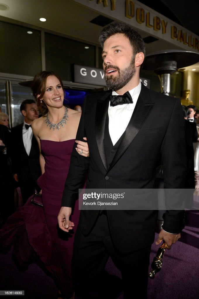 Actor-producer-director Ben Affleck, winner of the Best Picture award for 'Argo,' and actress Jennifer Garner attend the Oscars Governors Ball at Hollywood & Highland Center on February 24, 2013 in Hollywood, California.