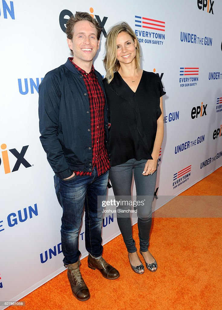 Actor/producer/screenwriter Glenn Howerton and actress/model/television personality Jill Latiano Howerton attend the 'Under The Gun' LA premiere...
