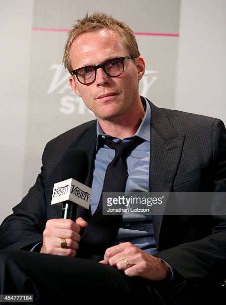 Actor/producer/screenwriter Paul Bettany attends day 2 of the Variety Studio presented by Moroccanoil at Holt Renfrew during the 2014 Toronto...