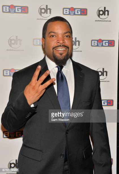 Actor/rapper and BIG3 basketball league founder Ice Cube attends the 2017 BIG3 draft at Planet Hollywood Resort Casino on April 30 2017 in Las Vegas...