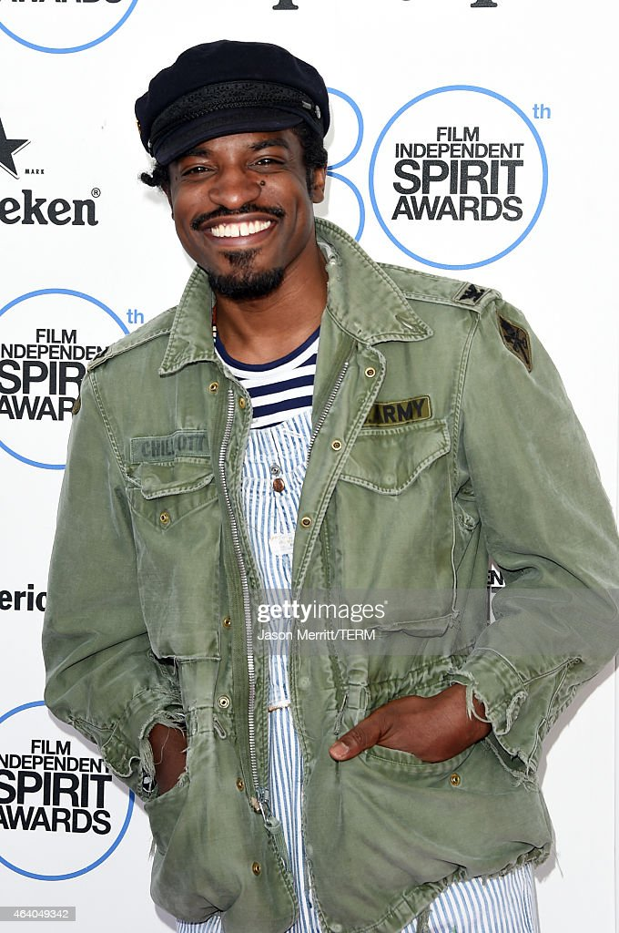 Actor/rapper Andre Benjamin attends the 2015 Film Independent Spirit Awards at Santa Monica Beach on February 21, 2015 in Santa Monica, California.