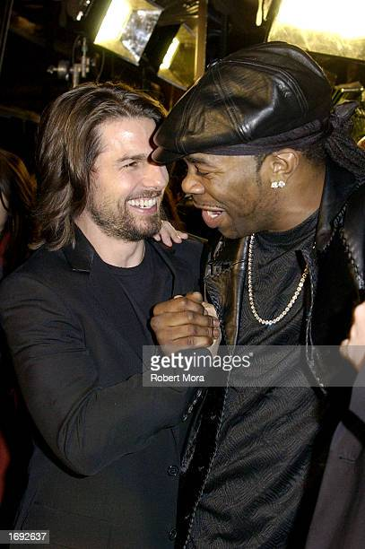 Actor/rapper Busta Rhymes and actor/producer Tom Cruise attend the world premiere of Paramount Pictures' 'Narc' at the Academy of Motion Picture Arts...