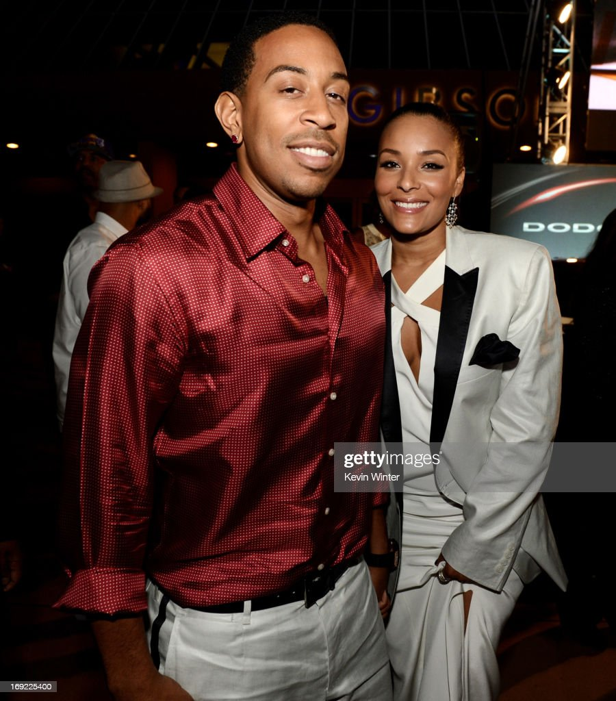 Actor/rapper Chris '<a gi-track='captionPersonalityLinkClicked' href=/galleries/search?phrase=Ludacris&family=editorial&specificpeople=203034 ng-click='$event.stopPropagation()'>Ludacris</a>' Bridges and his girlfriend Eudoxie arrive at the after party for the premiere of Universal Pictures' 'Fast & Furious 6' at the Gibson Amphitheatre on May 21, 2013 in Universal City, California.