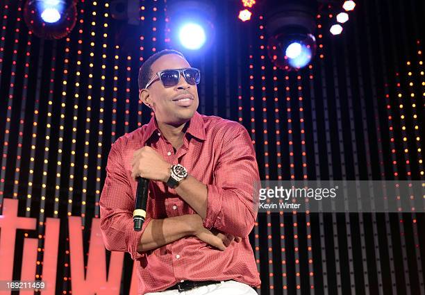 Actor/rapper Chris 'Ludacris' Bridges performs at the premiere of Universal Pictures' 'Fast Furious 6' at Gibson Amphitheatre on May 21 2013 in...
