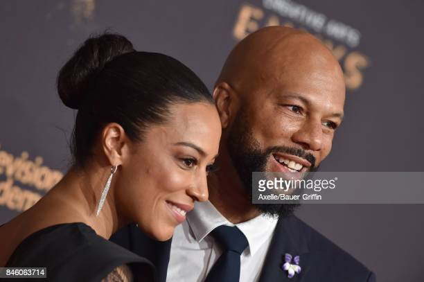 Actor/rapper Common and Angela Rye arrive at the 2017 Creative Arts Emmy Awards at Microsoft Theater on September 9 2017 in Los Angeles California