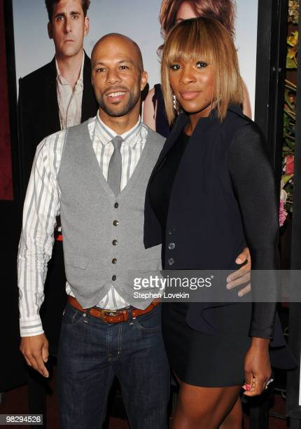 Actor/rapper Common and tennis player Serena Williams attend the premiere of 'Date Night' at Ziegfeld Theatre on April 6 2010 in New York City