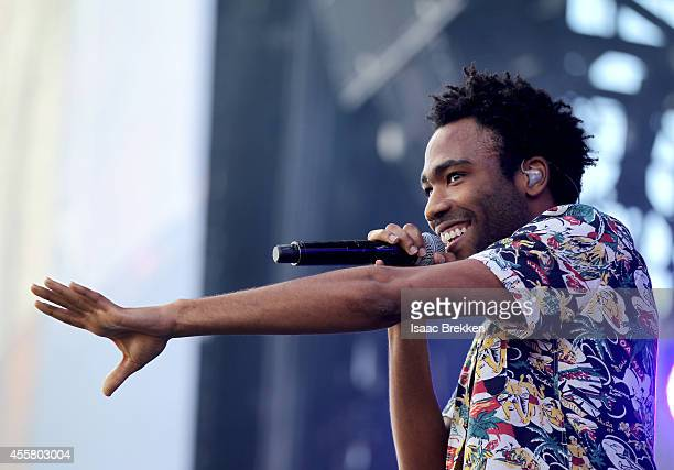 Actor/rapper Donald Glover performs onstage during the 2014 iHeartRadio Music Festival Village on September 20 2014 in Las Vegas Nevada