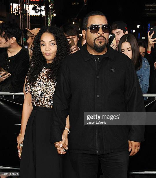 Actor/rapper Ice Cube and wife Kimberly Woodruff attend the premiere of 'xXx Return of Xander Cage' at TCL Chinese Theatre IMAX on January 19 2017 in...