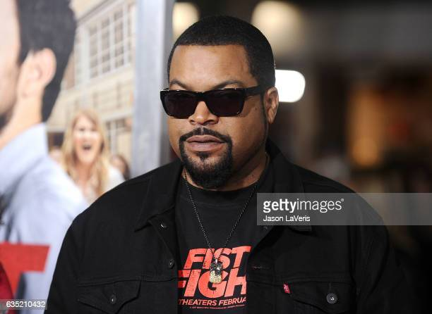 Actor/rapper Ice Cube attends the premiere of 'Fist Fight' at Regency Village Theatre on February 13 2017 in Westwood California