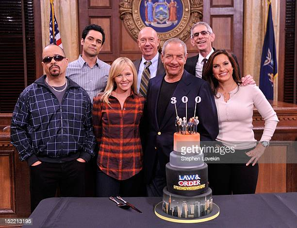 Actor/rapper IceT actor Danny Pino actress Kelli Giddish actor Dan Florek creator/executive producer Dick Wolf actor Richard Belzer and actress...