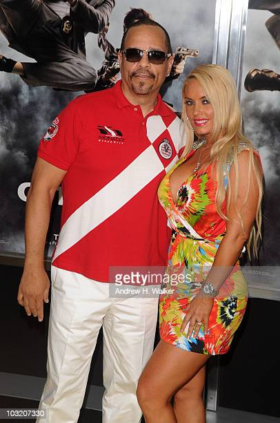 Actor/Rapper IceT and Coco attend the New York premiere of 'The Other Guys' at the Ziegfeld Theatre on August 2 2010 in New York City