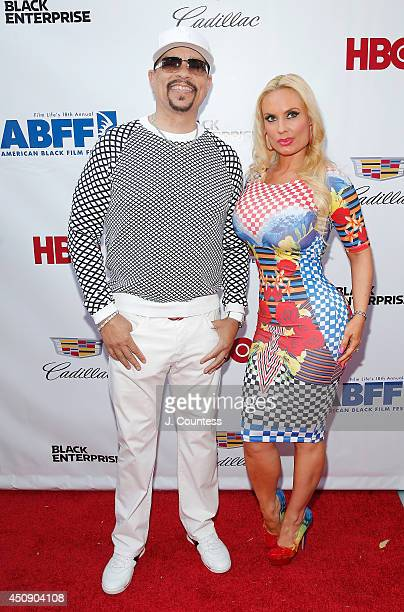 Actor/rapper IceT and Coco attend the 'Think Like A Man Too' premiere during the 2014 American Black Film Festival at SVA Theater on June 19 2014 in...