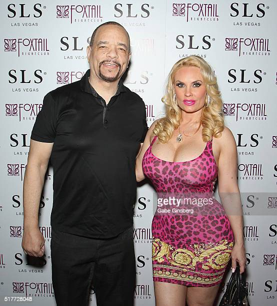 Actor/rapper IceT and his wife model Nicole 'Coco' Austin attend Austin's birthday party at Foxtail Nightclub at SLS Las Vegas on March 27 2016 in...
