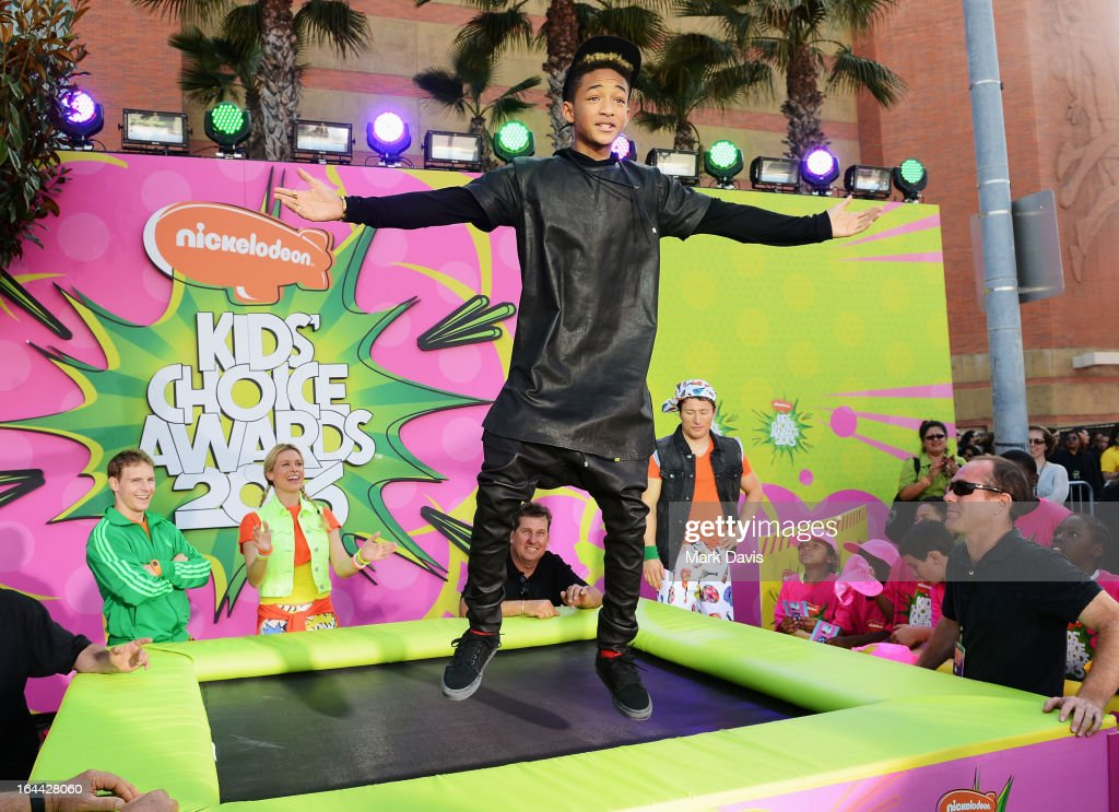Actor/rapper <a gi-track='captionPersonalityLinkClicked' href=/galleries/search?phrase=Jaden+Smith&family=editorial&specificpeople=709174 ng-click='$event.stopPropagation()'>Jaden Smith</a> attends the Nickelodeon's 26th Annual Kids' Choice Awards at USC Galen Center on March 23, 2013 in Los Angeles, California.